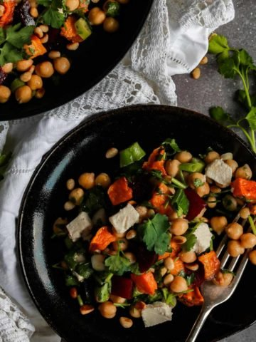 Beetroot, Butternut Squash and Chickpea Salad