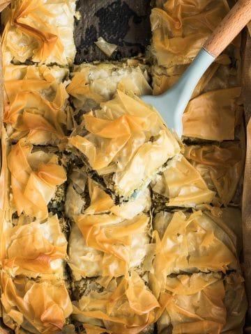 Vegan Spanakopita (Greek Spinach Pie)