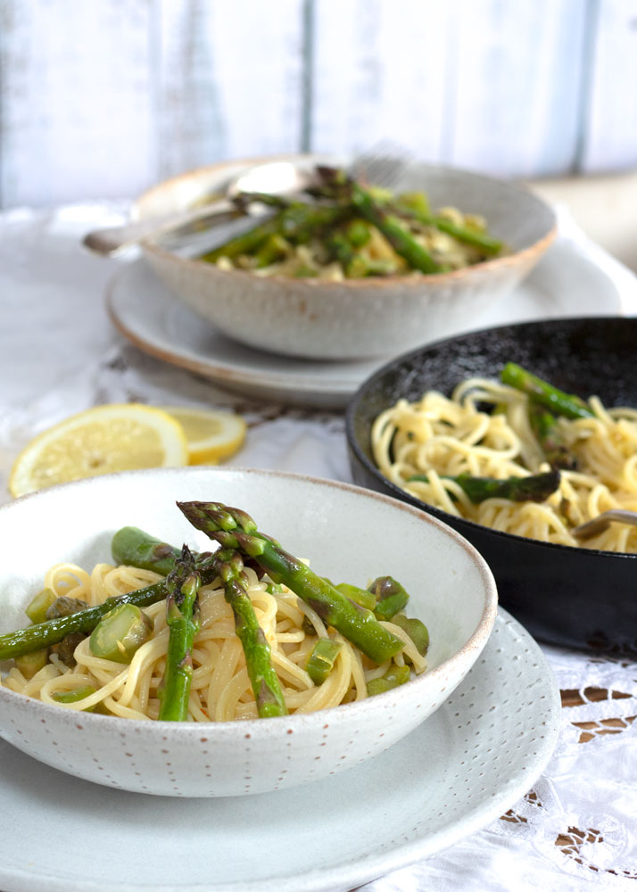 Easy Vegan Lemon Asparagus Pasta