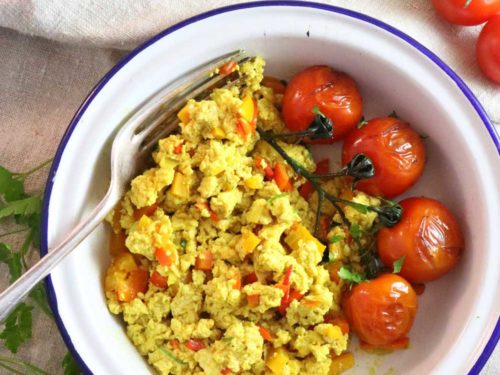 Tofu Scramble in plate