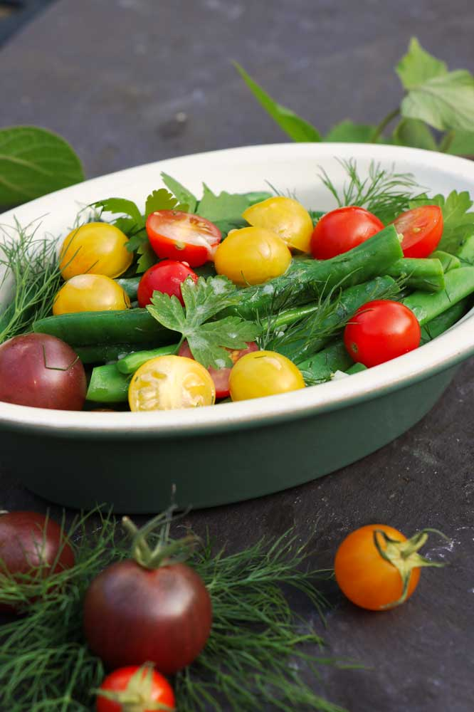 Herby Tomato & bean salad
