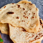 Pin for easy chickpea flour flatbreads