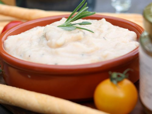 Miso White Bean and Rosemary dip