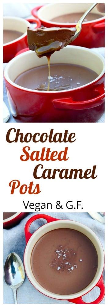 Vegan Chocolate Salted Caramel Pots PIN