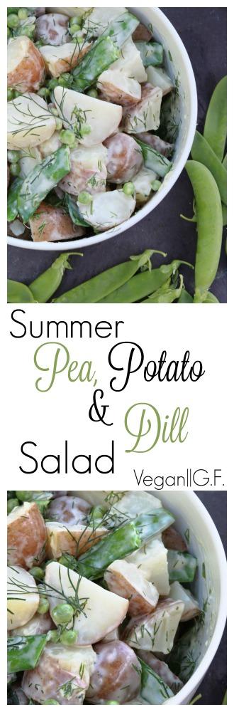 Summer Potato, Pea and Dill Salad pinterest