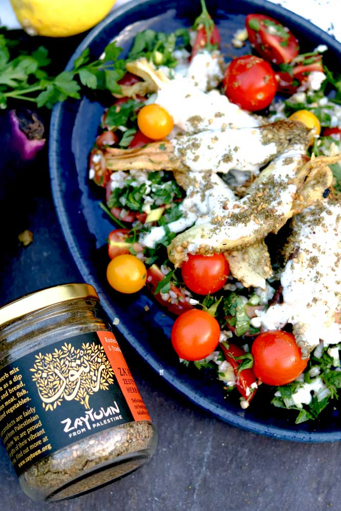 Aubergine Salad with Za'atar