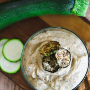 Courgette Baba Ganoush in a bowl