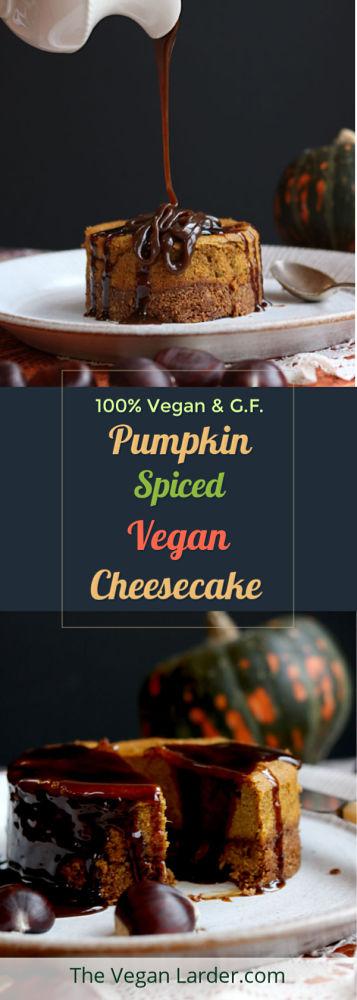Vegan Pumpkin Cheese Cake PInterest