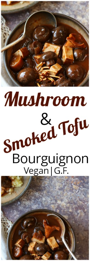 Mushroom and Smoked Tofu Bourguinon image for pinterest