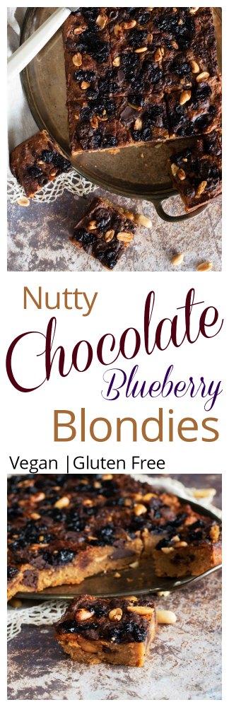 Nutty Choc Blondies Pinterest