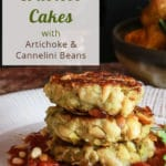 Cannellini and Artichoke Vegan Crabless Cakes for pinterest