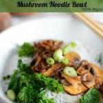 Hoisin Tofu Skin & Mushrooms Noodle Bowl for Pinterest