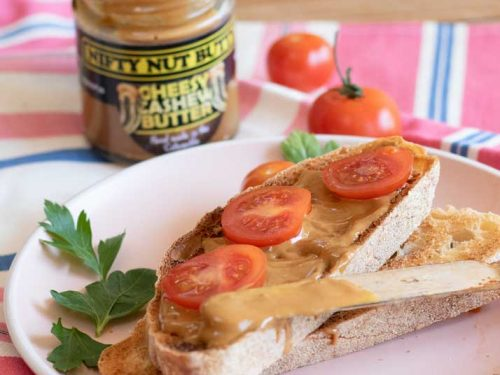 Cheesy and Tasty Nifty Nut Butter on Toast with some tomatoes