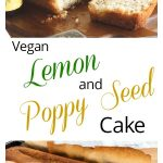 Vegan Lemon and Poppy seed cake for pinterest