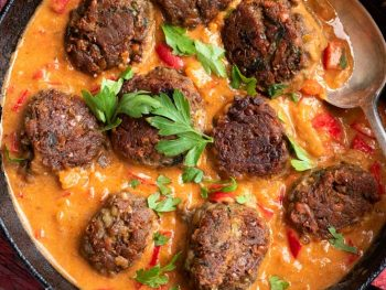 Lentil Kofta's in creamy curry sauce