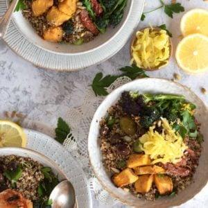 Quinoa Super Salad from the top
