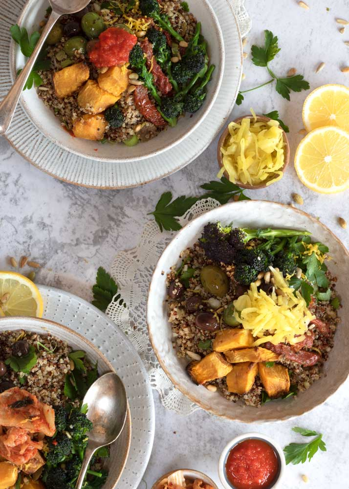 Quinoa Super Salad from the top