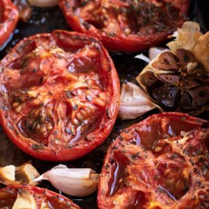 Roasted Tomatoes in their tin before blitzing to become sauce