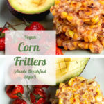 Aussie Style Vegan Corn Fritters for pinterest
