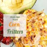 Aussie Style Vegan Corn Fritters pinterest