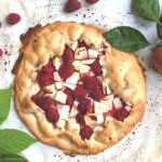 Apple & Rasperry Galette from the top