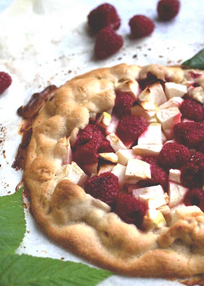 Apple and Raspberry Galette