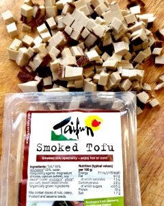 Finely Chopped smoked tofu to add to the soup