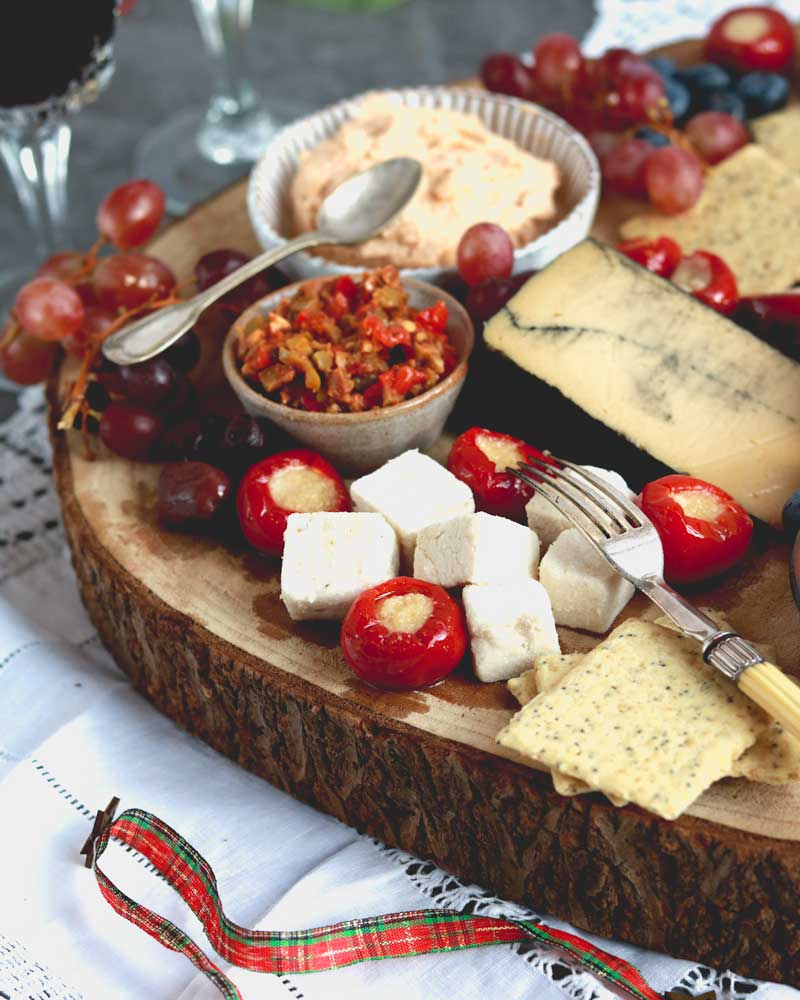 Vegan Cheese Platter with Kinda Co Greek Style cheese
