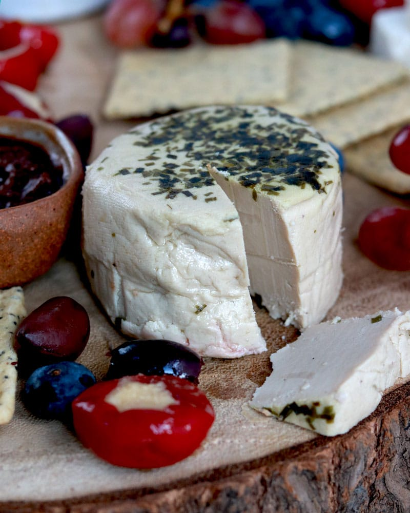 Nutcrafter Creamery vegan cheese with herbs