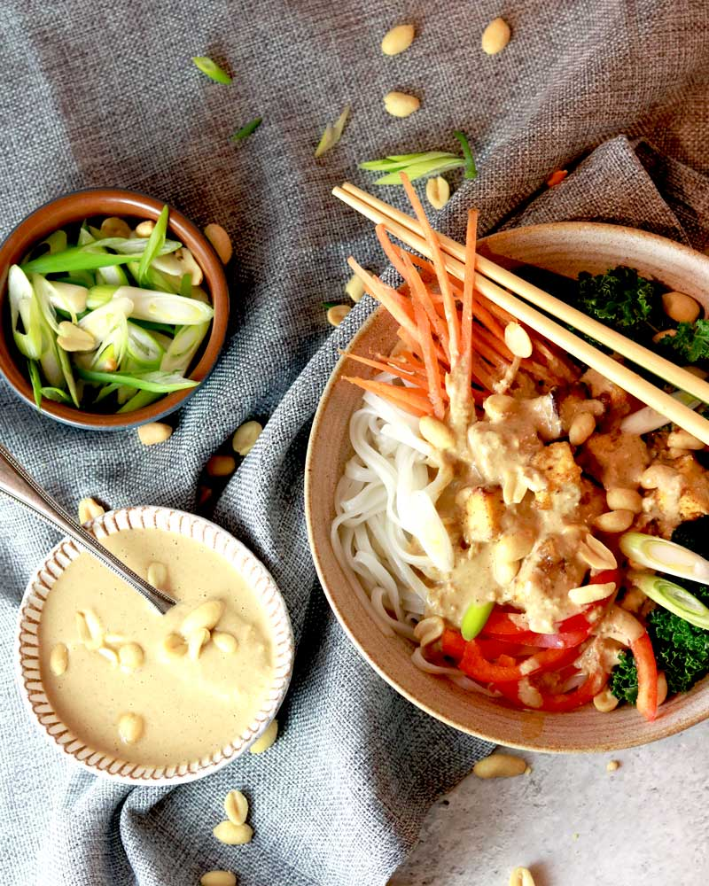 Super Satay Sauce with a noodle bowl