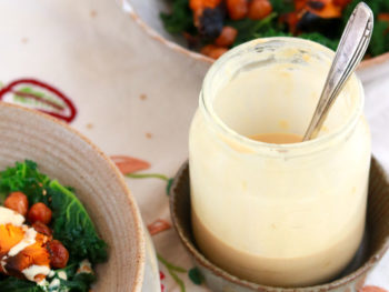 Gomae Sesame tahini dressing in a jar