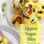 Vegan Eggless Bites/Frittata image for pinterest