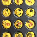 Mini Eggless Bites/MIni Frittatas out of the oven in a muffin tin