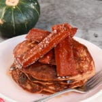 The Best Vegan Pumpkin Pancakes with Facon and Maple Syrup (Gluten Free!)