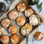 Cheesy Vegan Savoury Pumpkin Scones
