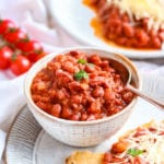 Vegan Baked Beans in a bowl.