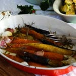 Roasted Carrots in a roasting dish