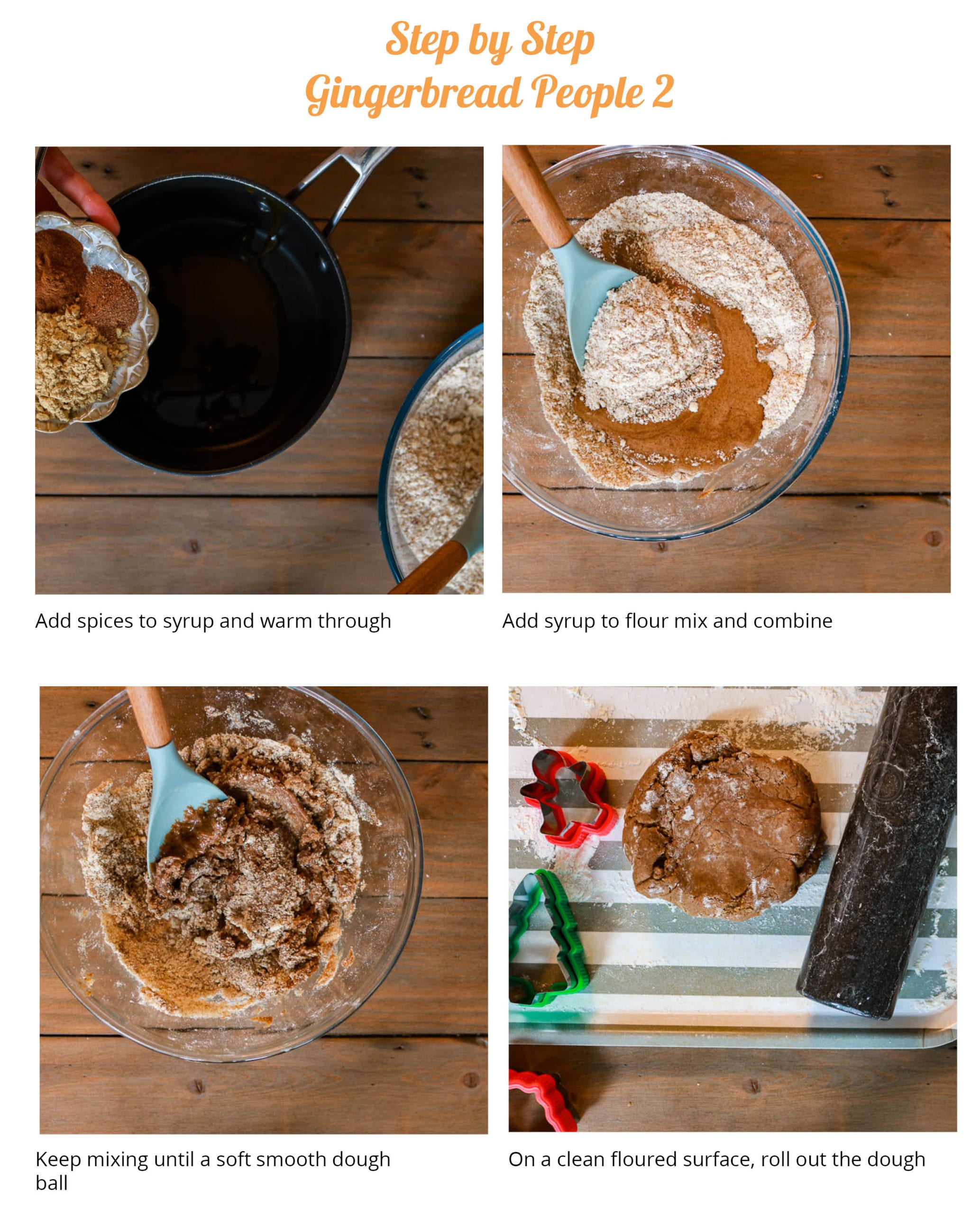 How to make vegan gingerbread people step by step