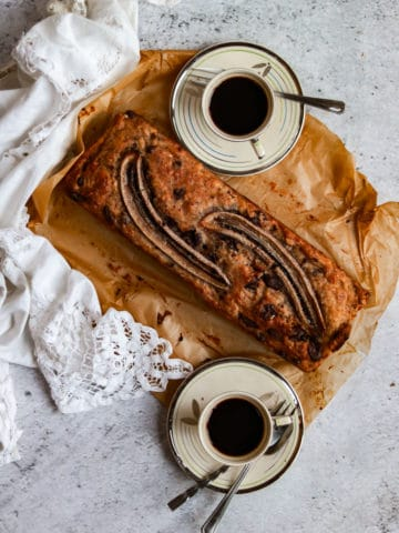 The Best Vegan Chocolate, Date and Banana Bread