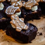 The Yummiest Vegan Gingerbread Brownies