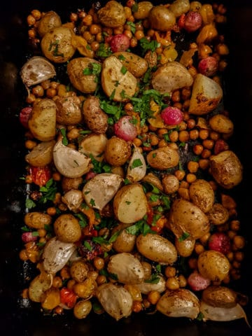 Potato and Chickpea Traybake.