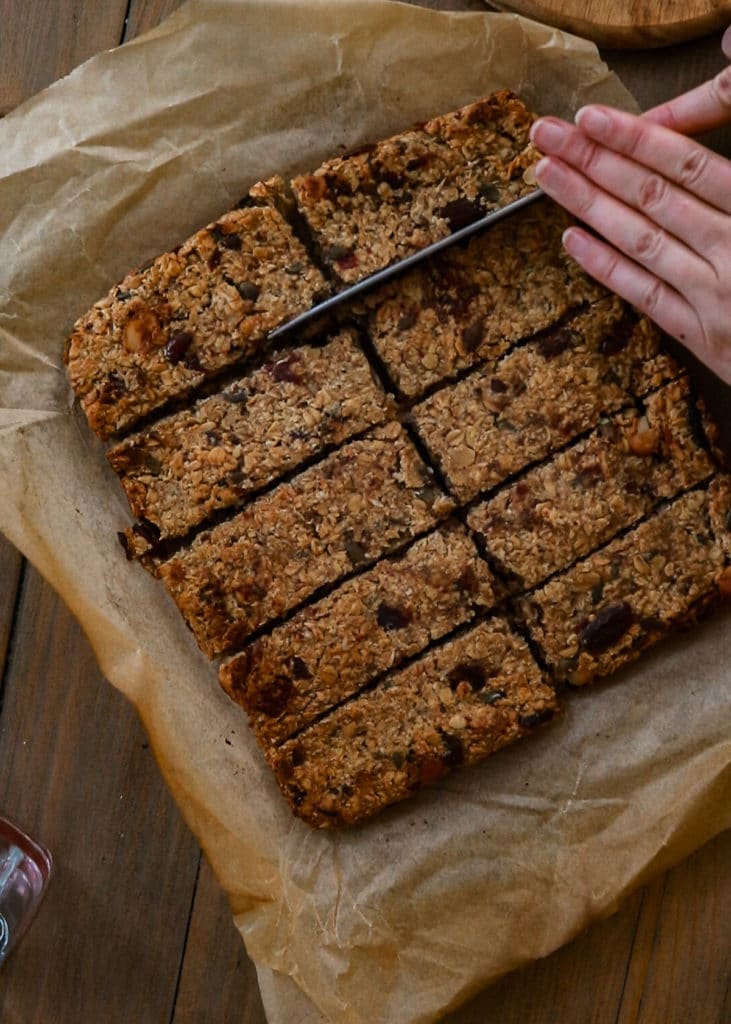 How To Image : Cut flapjacks into rectangles or squares .