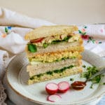 Tofu Egg salad sandwiches with 3 different flavours.