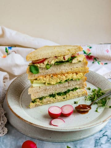 Vegan Tofu 'Egg' Salad Sandwiches - 3 Ways!