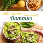 Pin for Wild Garlic Hummus.