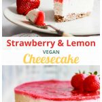 Vegan Strawberry Cheesecake image