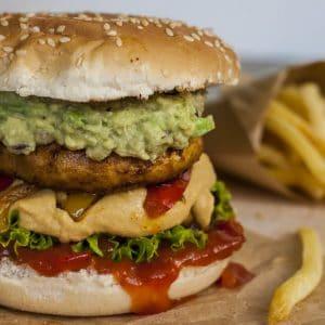 vegan BBQ fajitas burger recipe