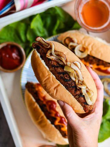 Vegan Smokey Seitan and Black Bean Sausages