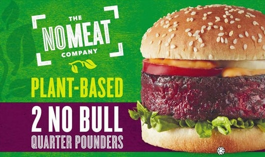 packet of no bull burgers from iceland as an alternative to making a vegan BBQ recipe