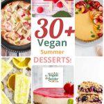 Collage of 6 different vegan desserts:
